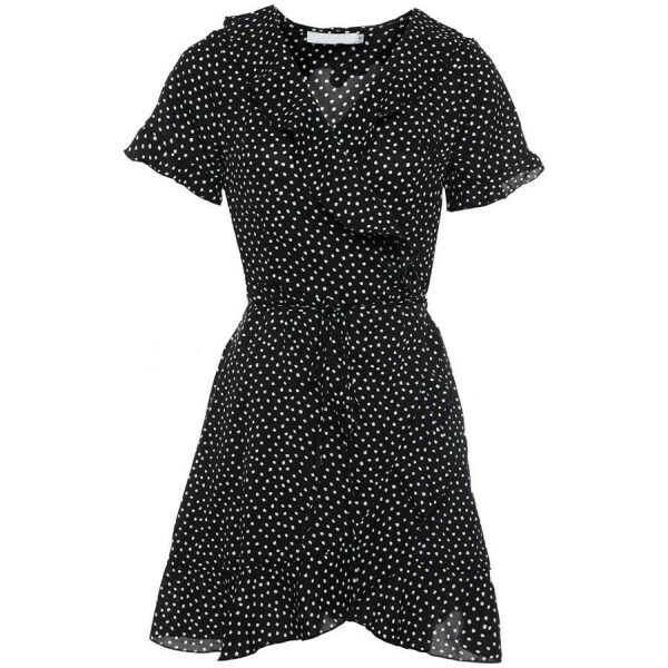 CUTEST POLKADOT DRESS BLACK