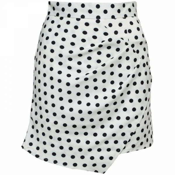 WHITE DOTTY SKIRT