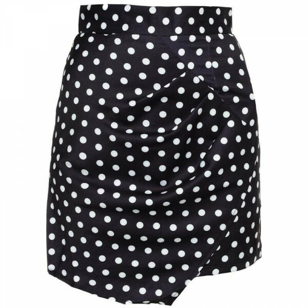 BLACK DOTTY SKIRT