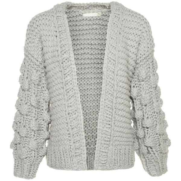 COZY KNITTED GREY CARDIGAN