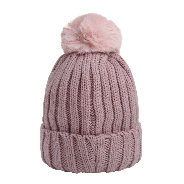 SWEET POMPON BEANIE PINK