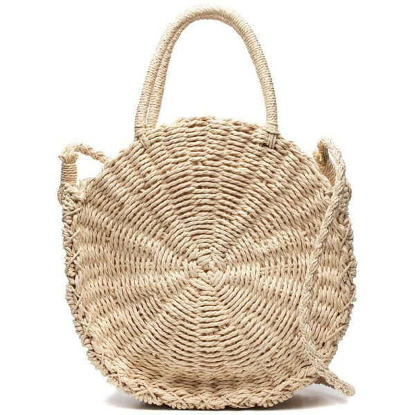 TRENDY ROUND STRAW BAG