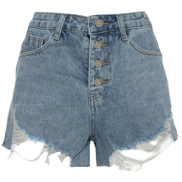 BUTTON UP DENIM SHORT