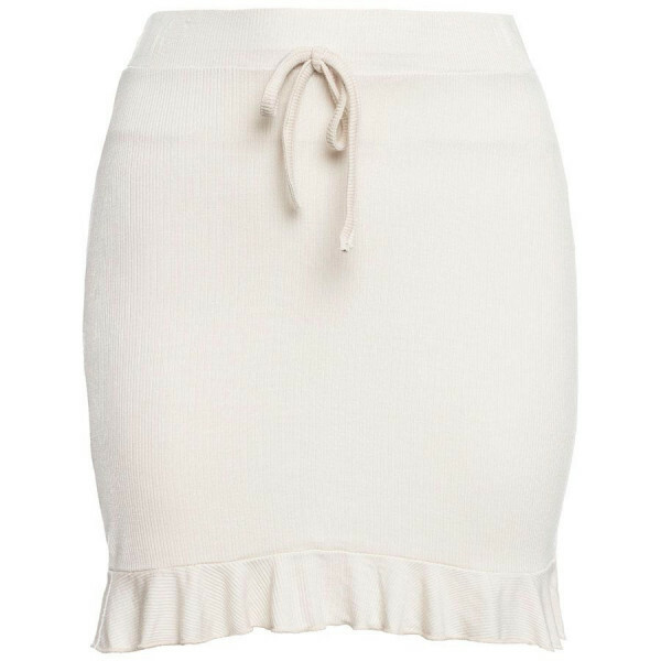 SOFT RUFFLE SKIRT BEIGE