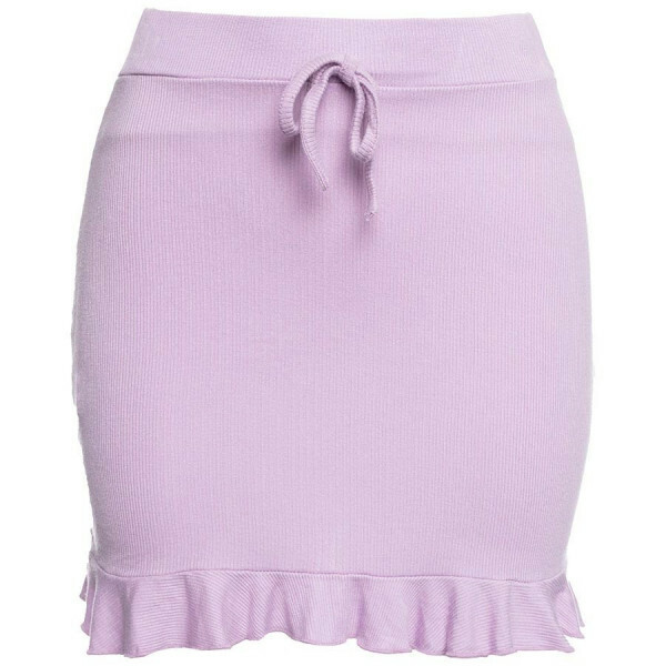 SOFT RUFFLE SKIRT LILA