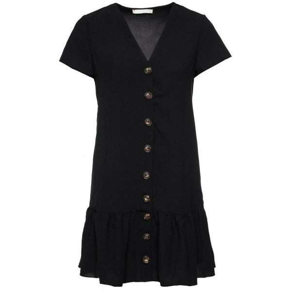 BAGGY RUFFLE DRESS BLACK