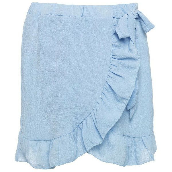 RUFFLE WRAP SKIRT BLUE
