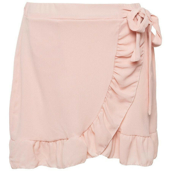 RUFFLE WRAP SKIRT PINK