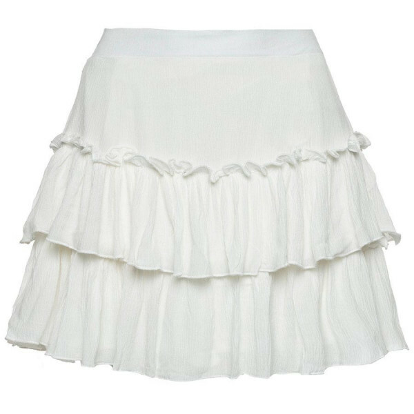 CUTEST RUFFLE SKIRT WHITE