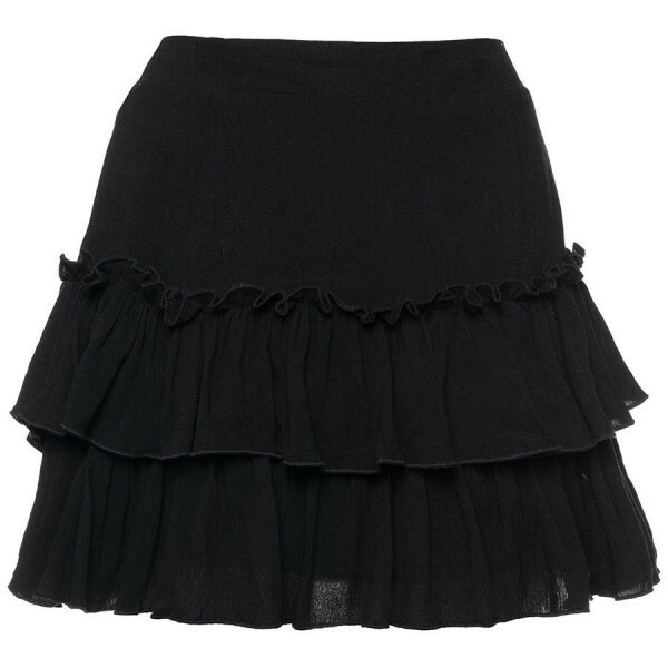 CUTEST RUFFLE SKIRT BLACK