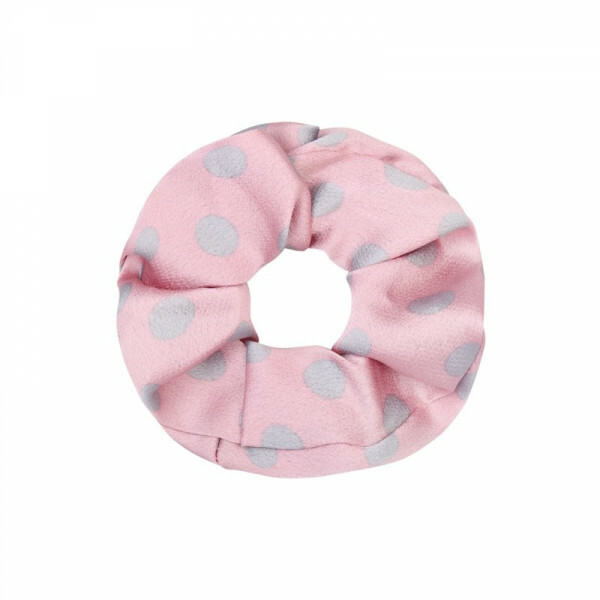 DOTTED SCRUNCHIE PINK