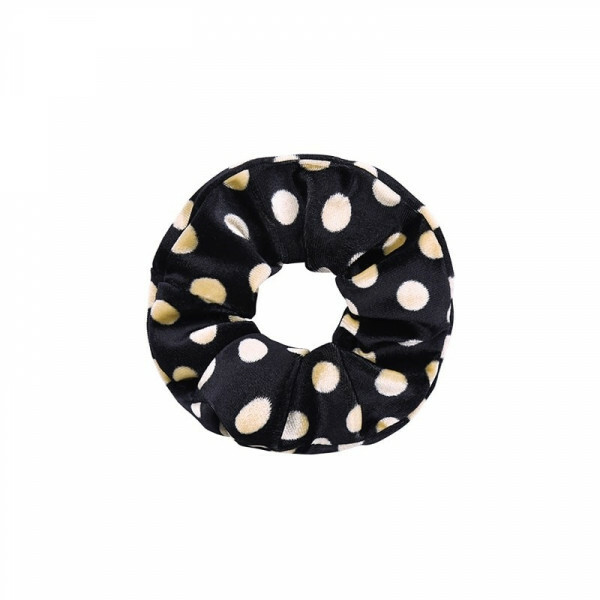 DOTTED SCRUNCHIE BLACK