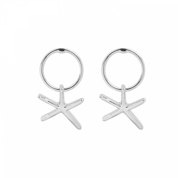 SILVER SEASTAR EARRINGS