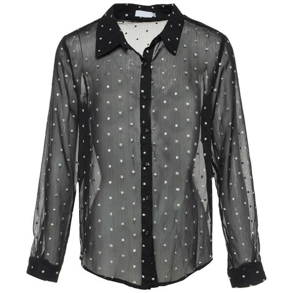 TRANSPARANT DOT BLOUSE BLACK
