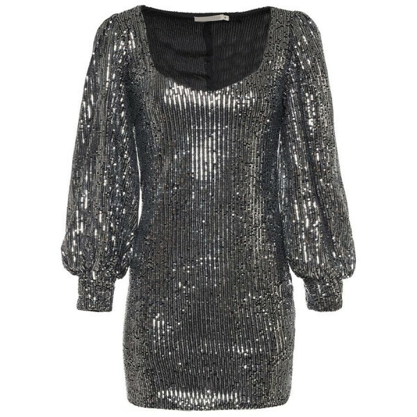 FANCY SEQUIN DRESS BLACK