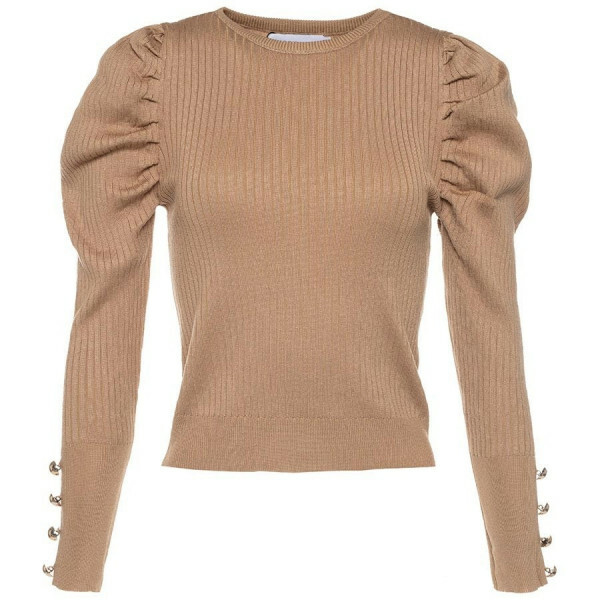 GOLDEN DETAILS KNIT BEIGE