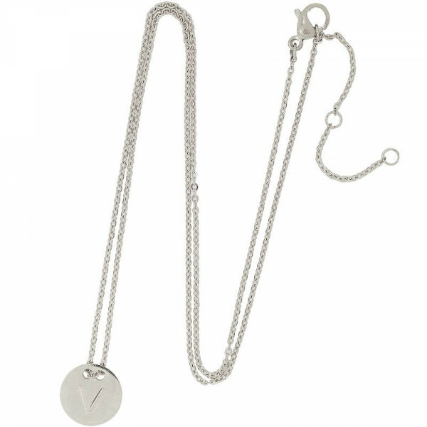 V-COIN NECKLACE SILVER