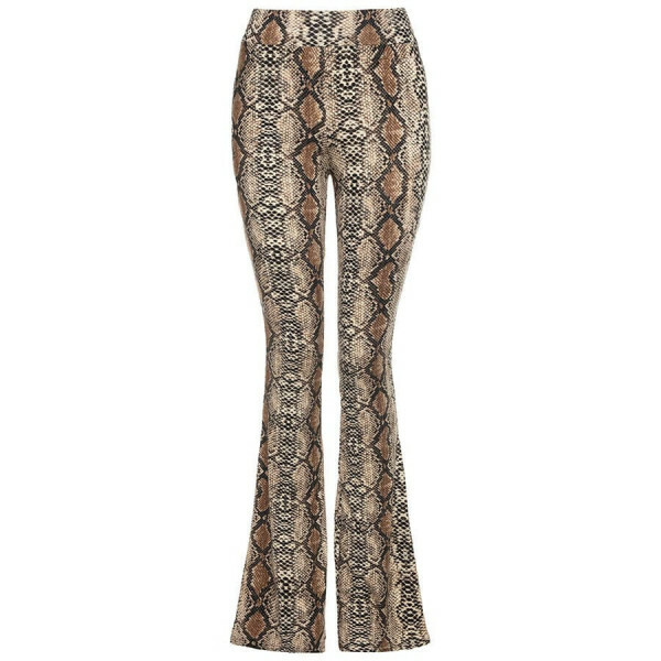 FLARED BROEK SLANGENPRINT