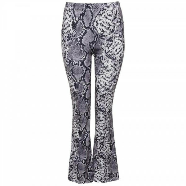 SNAKE FLARED PANTS GREY