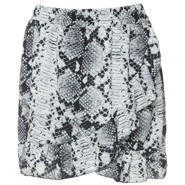 CUTE SNAKE RUFFLE SKIRT