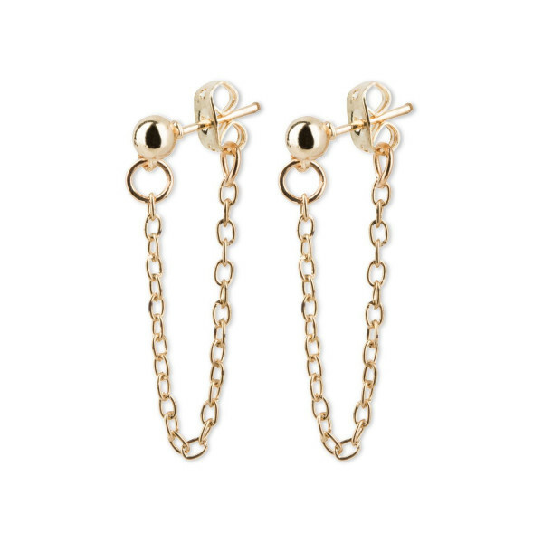 SPIKY CHAIN EARRINGS GOLD