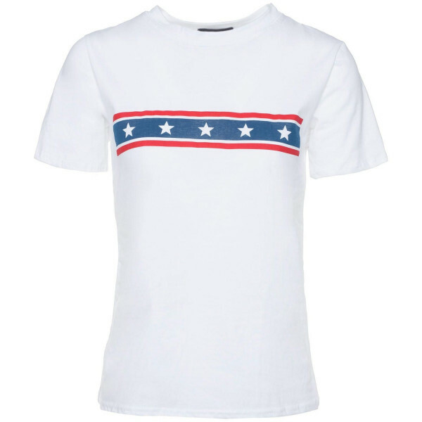 WHITE STARS 'N STRIPES TEE