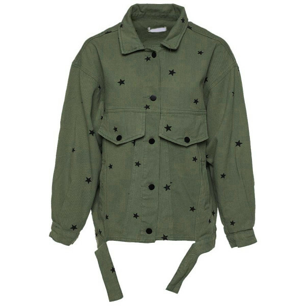 DENIM STAR JACKET DARK GREEN