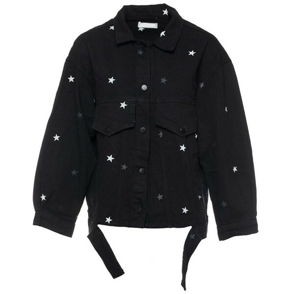 DENIM STAR JACKET BLACK