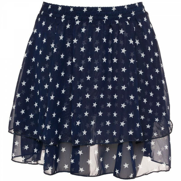 BLUE FLOUNCY STARS SKIRT