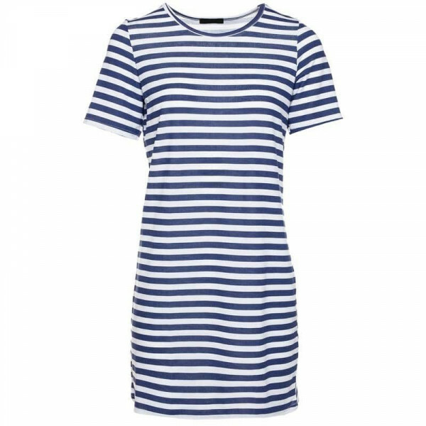 BLUE STRIPY TEE DRESS