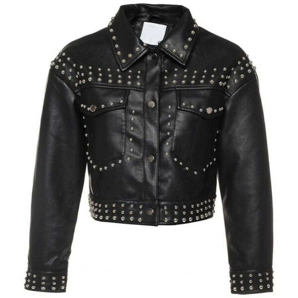 CROPPED STUDS JACKET