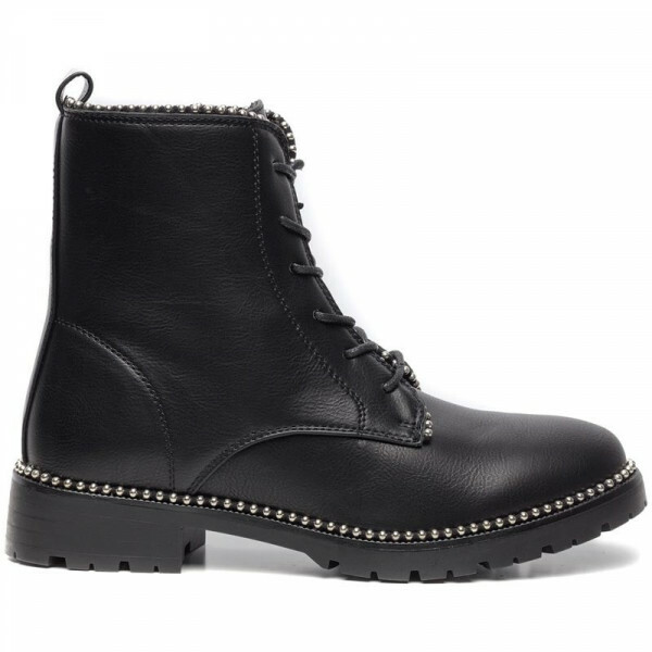 LACE UP STUD BOOTS