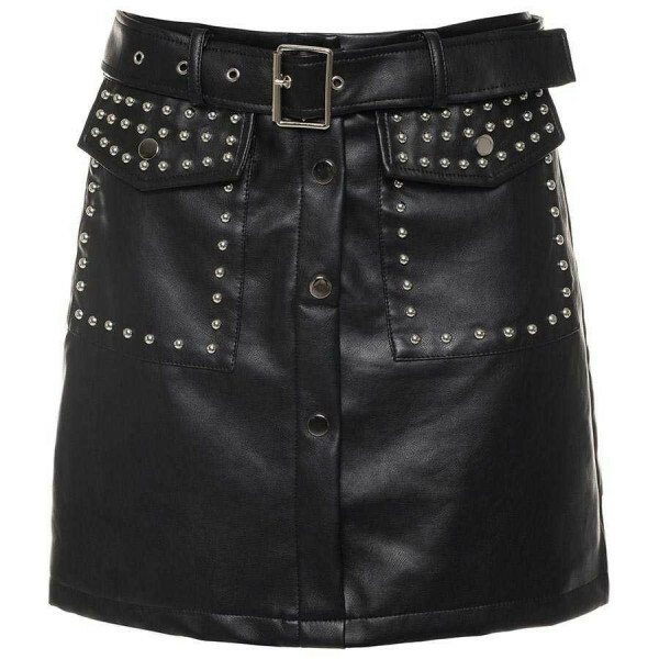 LEATHER STUDS SKIRT