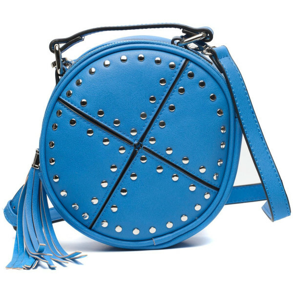 BLUE CIRCLE STUDDED BAG