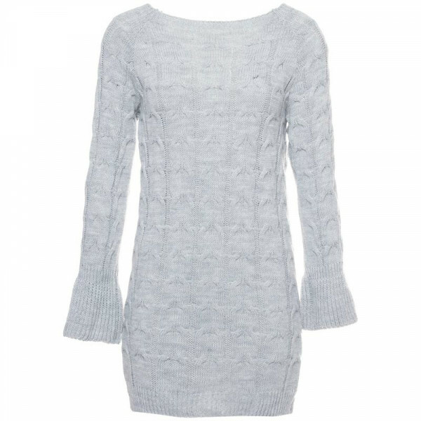 KNIT SWEATERDRESS GREY