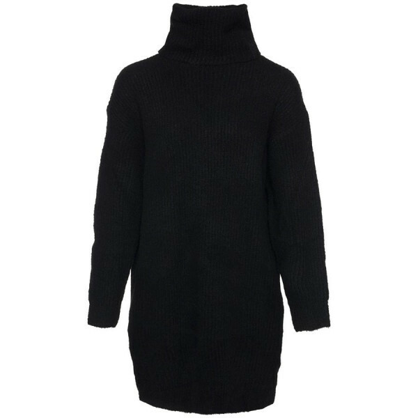 OVERSIZED SWEATERDRESS BLACK