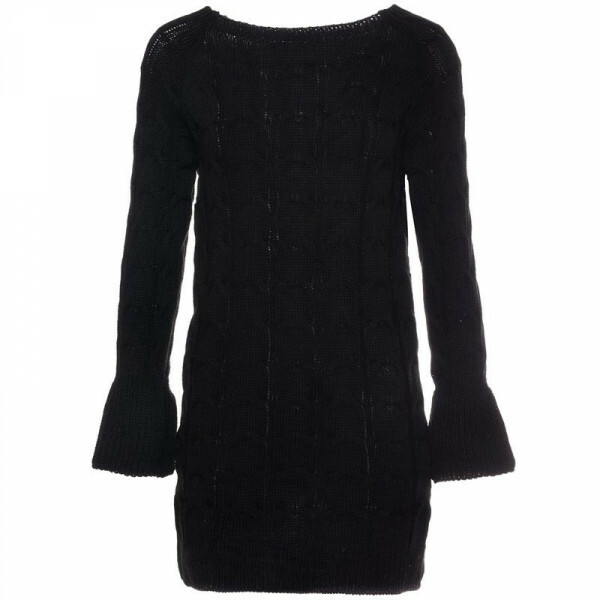KNIT SWEATERDRESS BLACK