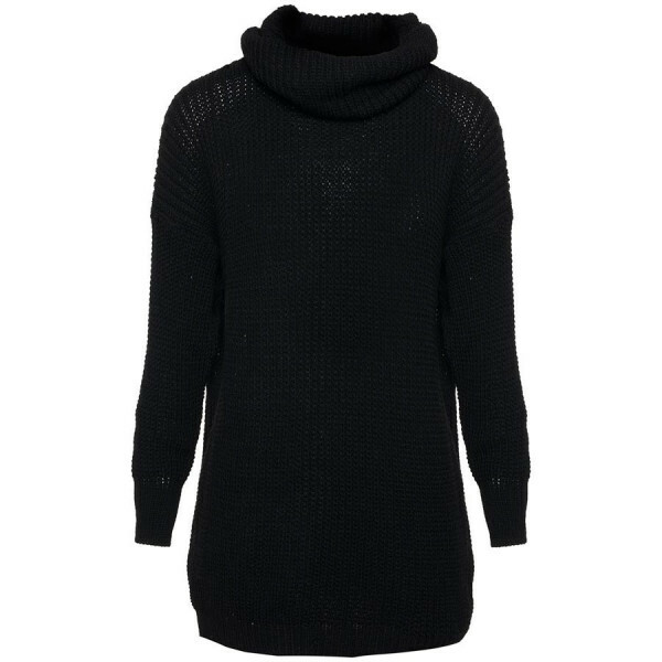 KNITTED SWEATERDRESS BLACK