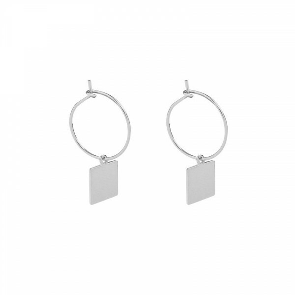 TAG EARRINGS SILVER
