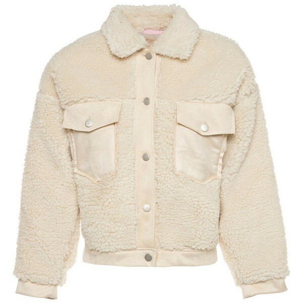 OVERSIZED TEDDY JACKET BEIGE