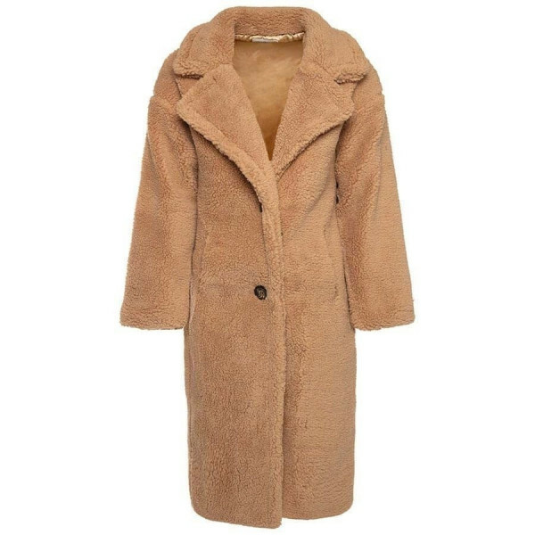 LONG COSY TEDDY COAT BEIGE