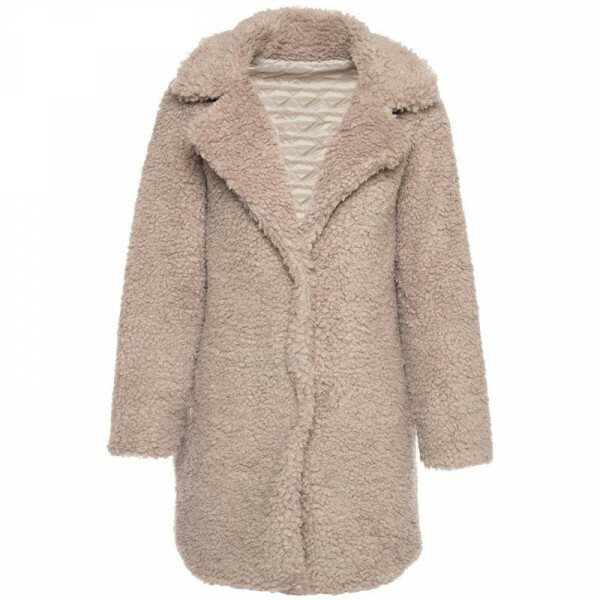 COZY TEDDY COAT BEIGE