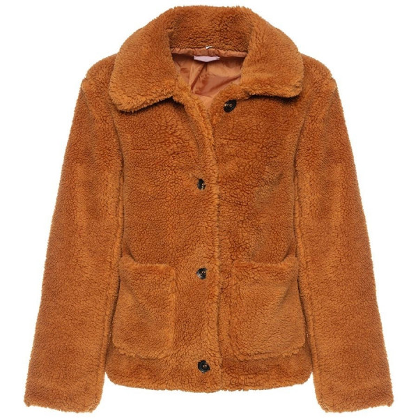 CUTEST TEDDY COAT CAMEL