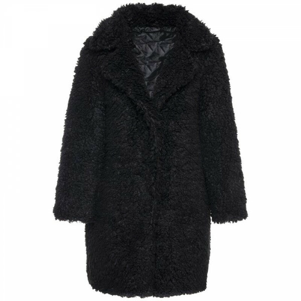 COZY TEDDY COAT BLACK
