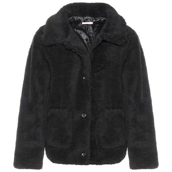 CUTEST TEDDY COAT BLACK
