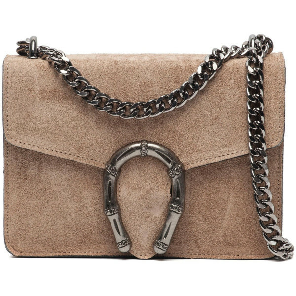 SMALL BEIGE STATEMENT BAG