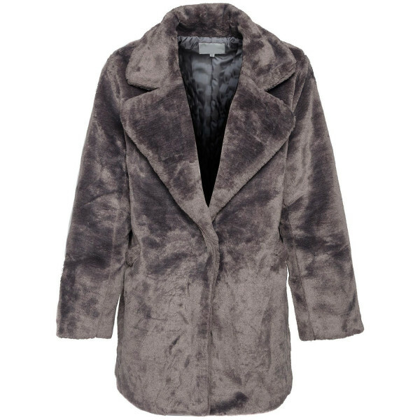 TRENDY TEDDY COAT GREY