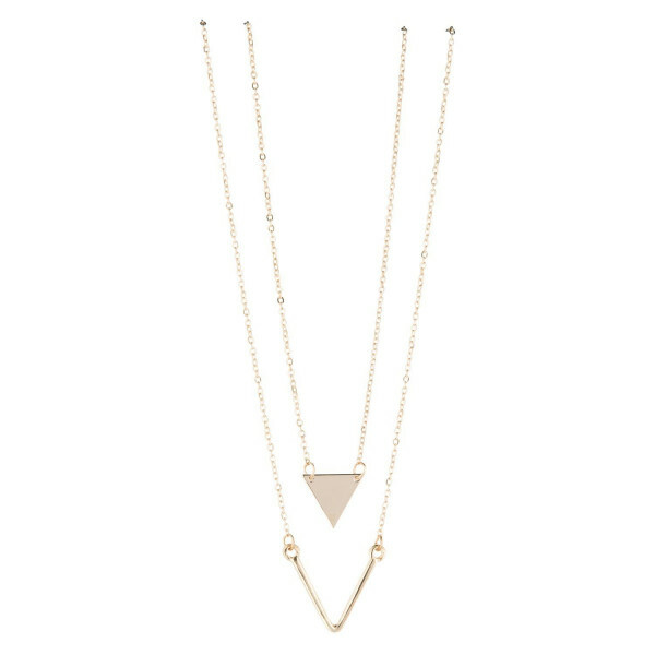 LAYER TRIANGLE NECKLACE