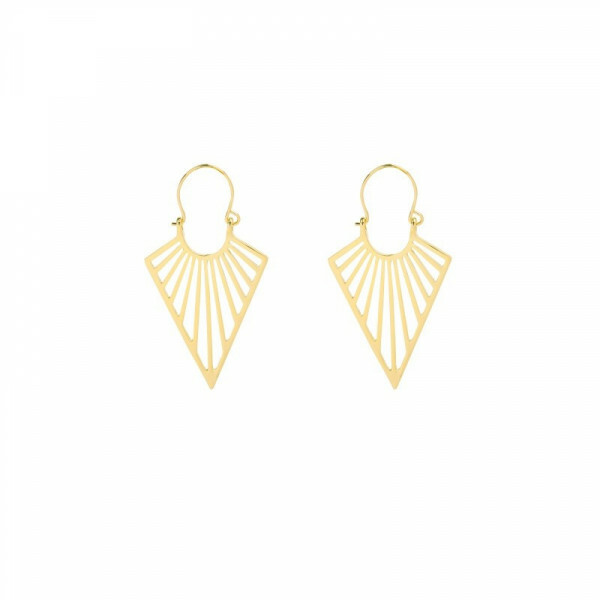 GOLD ON POINT EARRINGS