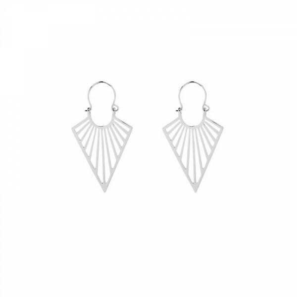 SILVER ON POINT EARRINGS